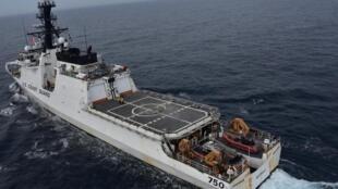 Tàu tuần dương Cutter Bertholf lớp [WMSL 750] thực hiện chiến dịch tuần tra trên biển Hoàng Hải, ngày 05/06/2019.