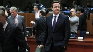 British Prime Minister  David Cameron in Brussels Thursday