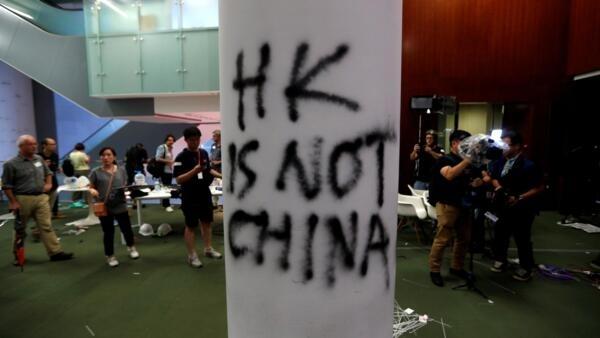 香港立法會清場之後。