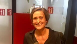 Lenka Horňáková-Civade, écrivaine tchèque de langue française, en studio à RFI (2019).