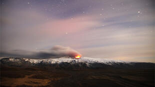 The latest eruption at the Eyjafjallajokull volcano in Iceland.