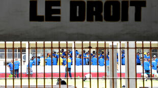 Vue de la prison de Makala à Kinshasa, RDC.