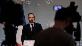 Le Premier ministre Edouard Philippe le 27 mars à Paris.