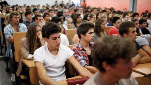 Etudiants français.