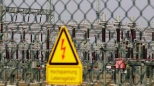 Một trạm biến áp của công ty 50Hertz tại Neuenhagen, Đức, 06/03/2014.