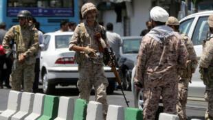 نیروهای سپاه پاسداران در تهران ٢٠١٧