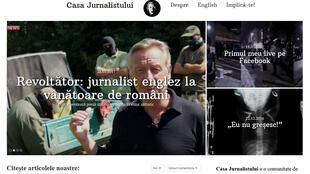 Caputre d'écran du site d'information roumain casajurnalistului.ro