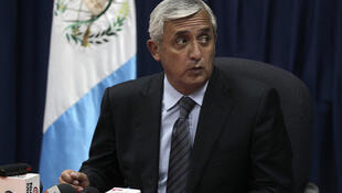El general retirado Otto Pérez del Partido Patriota, presidente de Guatemala.