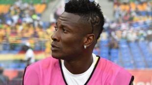 Le Ghanéen Asamoah Gyan lors de la CAN 2017.