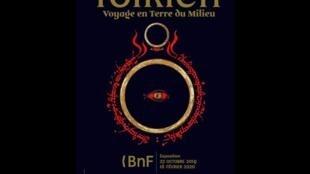 Affiche de l'exposition «Tolkien, voyage en Terre du Milieu» à la BNF.