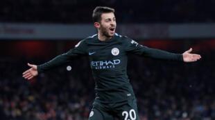 Bernardo Silva scored Manchester City's opener at Arsenal