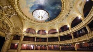 La salle Favart à l'Opéra-Comique de Paris.
