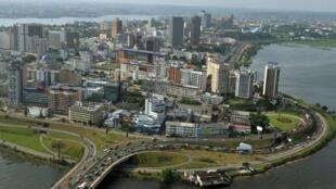 Vue générale d'Abidjan, la capitale économique de la Côte d'Ivoire.