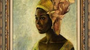 Christine, le modèle du tableau de l'artiste nigérian Ben Enwonwu.