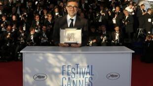 """Director Nuri Bilge Ceylan, Palme d'Or winner for """"Winter Sleep"""", Cannes, 24 May"""