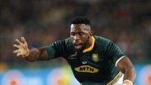 Siya Kolisi, premier noir capitaine de la sélection sud-africaine de rugby, le 10 juin 2018.