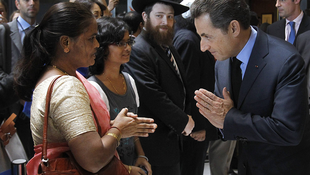Nicolas Sarkozy meets relatives of victims of the 2009 Mumbai attacks