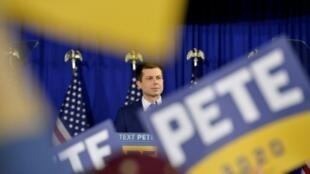 En esta foto del 11 de febrero de 2020 el precandidato demócrata Pete Buttigieg, en Nashua, New Hampshire