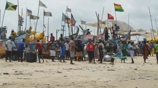 Aspecto do seminário sobre recursos marinhos, no Gana