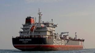 這是被伊朗扣押停泊在Bandar Abbas港口的英國油輪