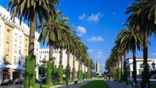 Avenue Mohammed V à Rabat.