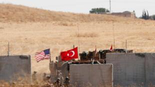 Mỹ và Thổ Nhĩ Kỳ tuần tra chung tại phía đông bắc Syria. Ảnh ngày 08/09/2019.