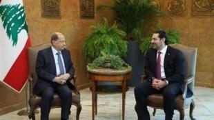 میشل عون، رئیس جمهوری لبنان و سعد حریری، نخست وزیر این کشور