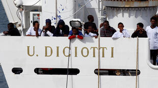 The Diciotti, the latest boat whose occupants have beeen forbidden to land in Italy