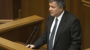 Новый глава МВД Украины Арсен Аваков на сессии Верховной Рады в Киеве 22/02/2014