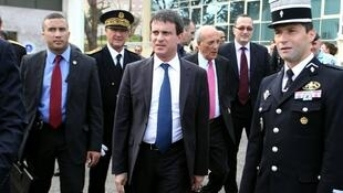 French Interior Minister Manuel Valls in the Corsican city of Bastia