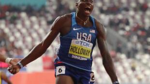 Grant Holloway dedicated his 110m hurdles world title to his inner circle.