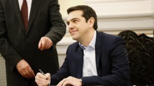 Alexis Tsipras, novo chefe de governo da Grécia.