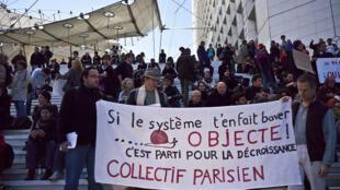 "The Indignés' ""Occupy La Défense"" camp"