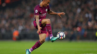 Gabriel Jesus scored the first goal for City against Tottenham.