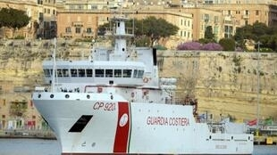 The Gregoretti Italian coastguard ship, on a mission in Malta in 2015.