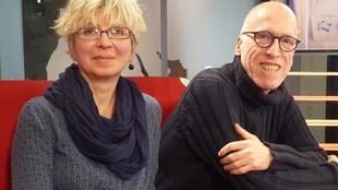 Laura y Ricardo Nilni en los estudios de RFI