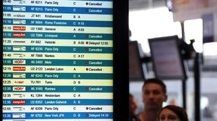 Cancellations during a previous air traffic controllers' strike