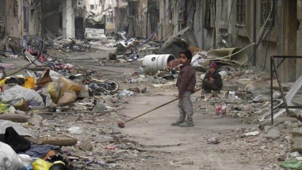 La ville de Homs, ce 26 janvier 2014, a des allures de ville fantôme.