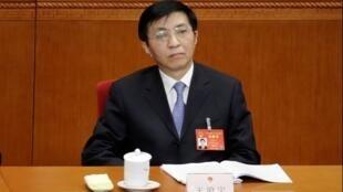 Nhà lý luận của đảng Cộng Sản Trung Quốc Vương Hộ Ninh (Wang Huning). Ảnh chụp tại kỳ họp Quốc Hội Trung Quốc, ngày 08/03/2017.