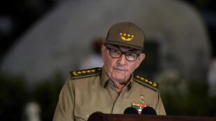 Bí thư thứ nhất đảng Cộng Sản Cuba Raul Castro đọc diễn văn ngày 01/01/2019, kỷ niệm 60 năm Cách mạng Cuba.