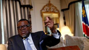 President Hage Geingob of Namibia