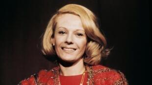 L'actrice et réalisatrice Delphine Seyrig. Photo datée de 1970.