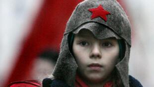 На праздновании 88-летия Октябрьской революции. Москва, 7 ноября 2005 г.