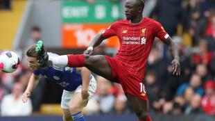 Sadio Mane marque le premier but de Liverpool contre Leicester, le 5 octobre 2019.