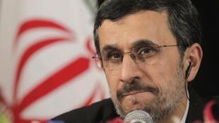 Le président iranien Mahmoud Ahmadinejad, à New York, le 26 septembre 2012.