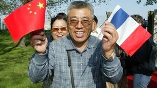 Chinese tourists in France