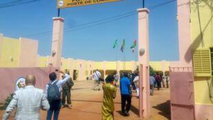 L'entrée du désormais ancien quartier général du G5 Sahel à Sévaré.