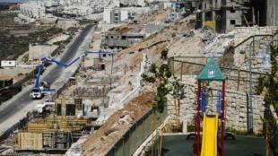 Novos assentamentos israelenses na Cisjordânia, em foto do dia 11 de agosto de 2013.