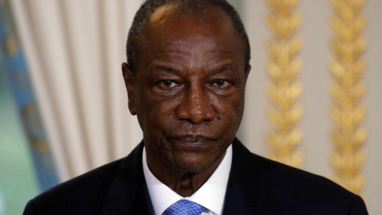 O Presidente da Guiné Conacri, Alpha Condé, em Paris, no 22 de Novembro de 2017.