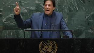 Le Premier ministre pakistanais Imran Khan a prévenu qu'il y avait un risque de guerre en raison de la crise au cachemire, le 27 septembre à la tribune de l'ONU.